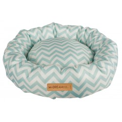 Cat Bed Tasmania Round cushion blue