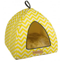 Cat Bed Tasmania Tipi cat igloo yellow