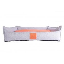 Dog Moon Bed orange/grey large