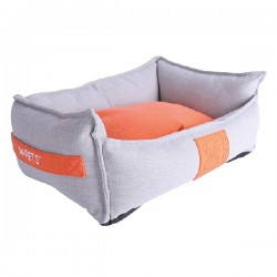 Dog Moon Bed orange/grey medium