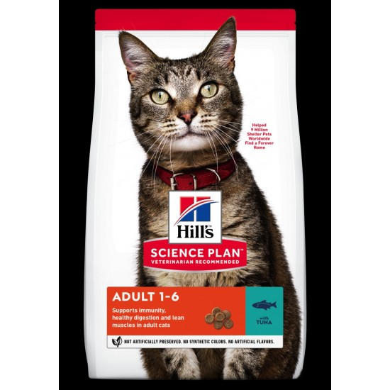Hills Science Plan feline adult Tuna 3kg