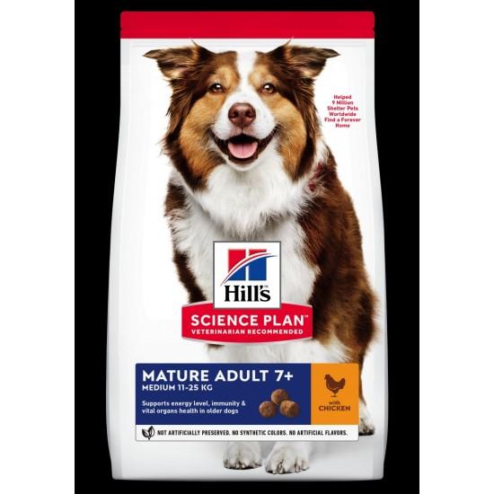 Hills Science Plan Adult mature medium breed chicken 12kg